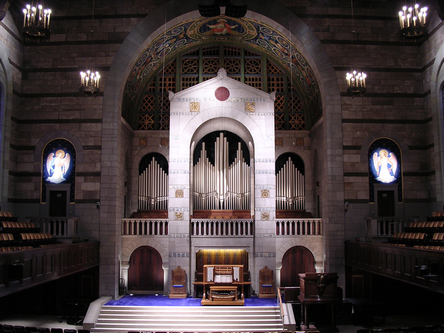 Fountain Street Church, Grand Rapids MI - Allen Five-Manual Console/138-Rank Austin Pipe Organ